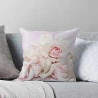 'Roses' Throw Pillow by KandM
