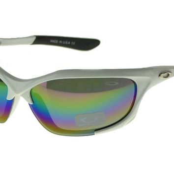 Oakley Asian Fit Sunglasses White Frame Colored Lens