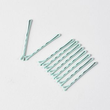 Retro Style Mint Matte Bobby Pins