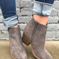 Strut Into Fall Charcoal Booties