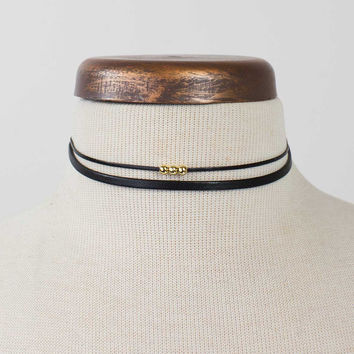 Double Layer Beaded Choker