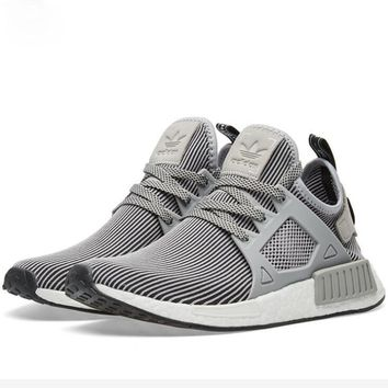 ADIDAS RUNNING NMD XR1 Women/Men Sports shoes (black-gray stripe) H Z