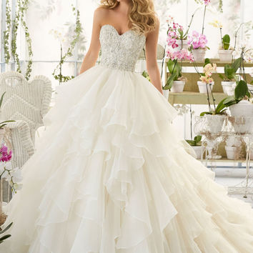 Wedding Dress with Crystal Bodice on Organza | Style 2815 | Morilee