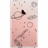 phone case I need my space Planet Rocket Outer space transparent soft silicone case cover for iPhone7 7plus 6S 6plus 5S SE