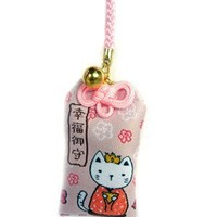 Japanese Luck Charm: Kitty and Flower Good Luck