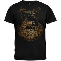 Johnny Cash - Songs On Guitar Soft T-Shirt