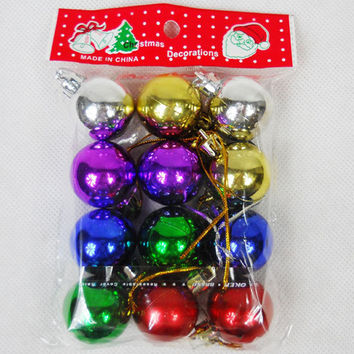 Christmas home decoration supplies tree ornaments 3 cm plastic ball Laser Bright Adornos Navidad 60pcs