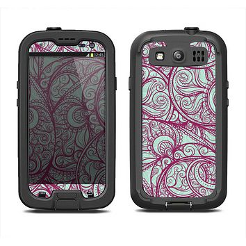 The Vector Purple Thin Laced Samsung Galaxy S4 LifeProof Fre Case Skin Set