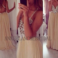 Open back prom dress backless prom dress beaded bling prom dress party dress evening dress chiffon dress club dress