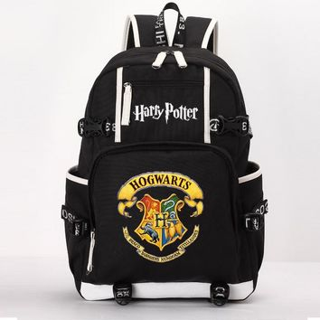 School Backpack Harry Potter school bag noctilucous backpack student school bag Notebook backpack Leisure Daily backpack AT_48_3