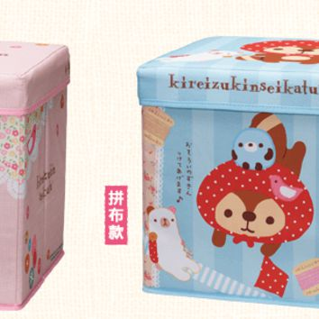 "Sanrio Kireizukin Seikatsu 7-11 Limited 12.5"" x 12.5"" x 12.5"" 2 Type Foldable Fabric Storage Box Set"