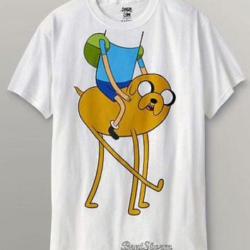 Licensed cool RARE NEW Adventure Time with Finn and Jake Boy Head On Dog T-Shirt Tee Large NEW