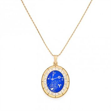 Aries Celestial Wheel Expandable Necklace