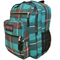 Jansport Big Student Backpack Blue Gray Duke Plaid Bag School Book Men Women Boy