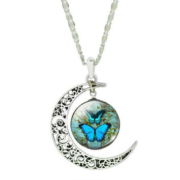 Butterfly Moon Necklace