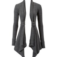 Lipsy Tab Neck Waterfall Cardigan