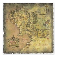 Middle Earth Map Poster from Zazzle.com