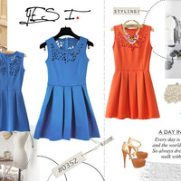 #0352 Laser-cut Ladies Dress US$109 Free Shipping to Worldwide | YES. I - FASHION : Easter Sales 10% OFF for 2 Days!