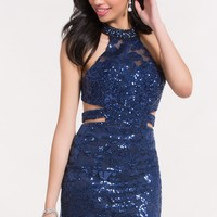 Alyce 4464 Fitted Dress with Illusion Neckline