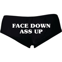 Face Down Ass Up Shortie Shorts # 638