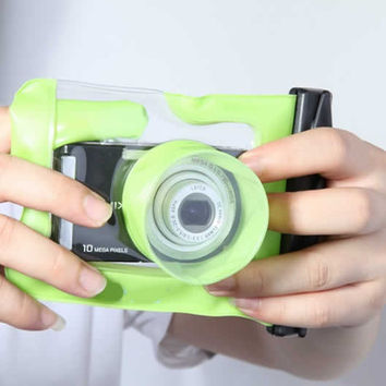 Digital Camera Waterproof Case. Let it snow! You can still be out there and take memorable pictures