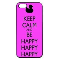 Duck Dynasty Keep Calm and be Happy pink Apple iPhone 5 Case