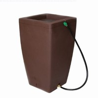 Algreen 84232 Madison Rain Barrel, Sandstone, 49 Gallon