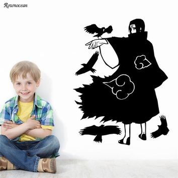 Naruto Sasauke ninja Cartoon Japanese Anime Manga  Wall Sticker For Kids Room Boys Bedroom Home Decor Decal Vinyl Interior Wallpaper Mural HY06 AT_81_8
