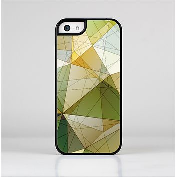 The Green Geometric Gradient Pattern Skin-Sert Case for the Apple iPhone 5c