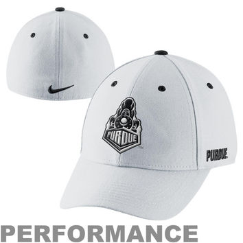 Nike Purdue Boilermakers Fan Legacy 91 Swoosh Flex Performance Hat - White