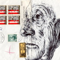 (12) Bic Biro on 1943 envelope Art Print by Mark Powell Bic Biro Drawings | Society6