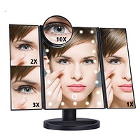 22 LED Light Touch Screen Makeup Table / Desktop Mirror