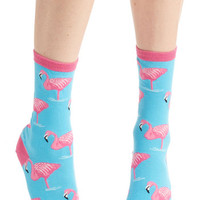 ModCloth Darling Takes Two to Flamingo Socks