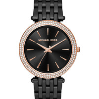 Michael Kors Women's Darci Black Ion-Plated Stainless Steel Bracelet Watch 39mm MK3407 - Women's Watches - Jewelry & Watches - Macy's