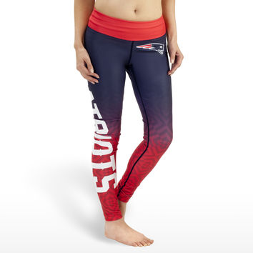 New England Patriots Gradient Print Leggings