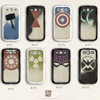 Samsung Galaxy S3 case the Avengers /choose one/ the Hulk , Hawkeye , Captain America , Iron Man , Thor