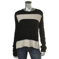 Theory Womens Wool Blend Striped Pullover Sweater