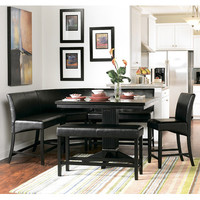 Homelegance Papario 6 Piece Counter Dining Room Set in Black
