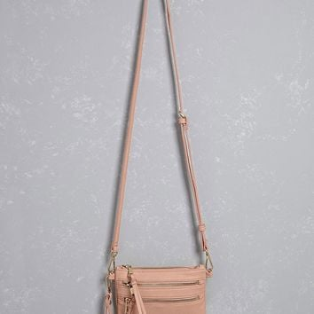 Faux Leather Zip Crossbody