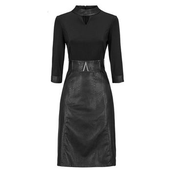 Domme Darkwave Leather Dress