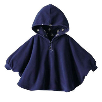 Fashion Baby Boys Girls  Coat Clothes Smocks Outwear Cotton Cloak Mantle Children\'s Poncho Shawl Cape Wrap Tippet for 0-24M