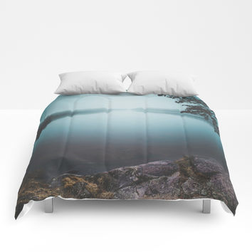 Lake insomnia Comforters by HappyMelvin