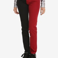 Tripp Red & Black Split Leg Skinny Jeans