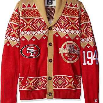 NFL San Francisco 49ers Men's 2015 Ugly Cardigan Sweater, XX-Large, Team Color