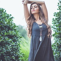 Bohemian Sundress in Charcoal