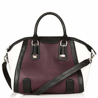 Tara Colour-block Holdall - Burgundy