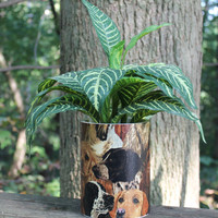 The Dog Lover Planter or Centerpiece by Bird Feeder Guy.  This makes a great gift for someone special.  Housewarming Gift.  Doggie Decor