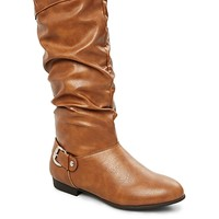 Side Buckle Scruched Boot