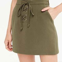Cooperative Lace-Up Mini Skirt - Urban Outfitters