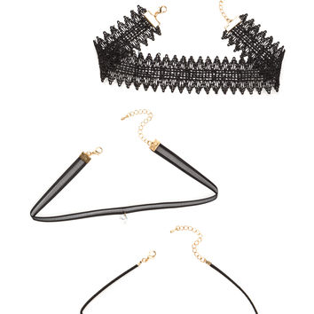 Triple Up Three-Piece Choker Set